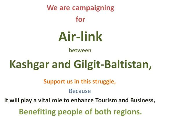 Air-Link between Kashgar and Gilgit-Baltistan